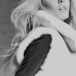 Gilet in visone white femmina
