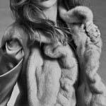 Gilet in visone zaffiro femmina