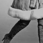 Visone zaffiro femmina - collo e balza in volpe bianca