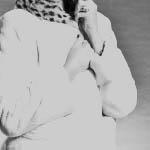 visone white femmina epilato  -  interno cappuccio baby oselotto